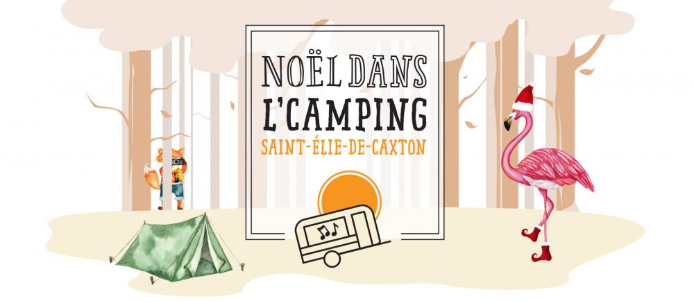 Noël dans l'Camping affiche